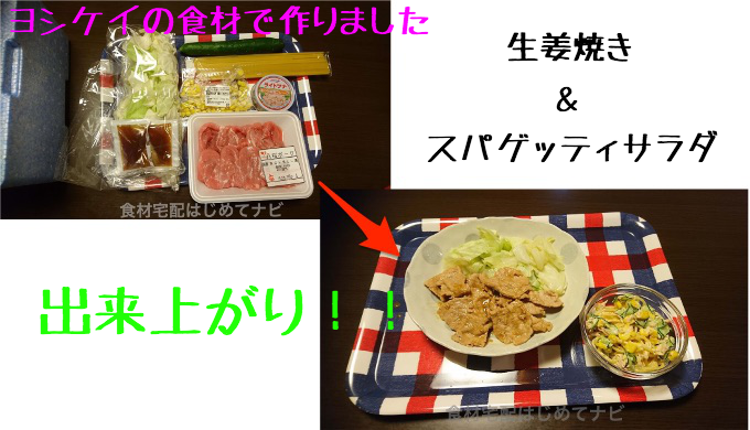 ヨシケイの食材で作った料理例